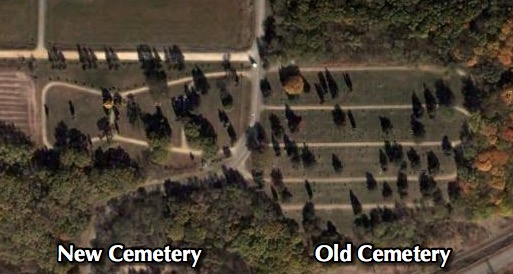 Satellite view of Minneopa Cemetery
